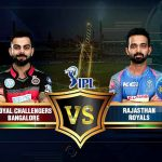 Bangalore v/s Rajasthan Saturday 19 May 2018 16.00 Jaipur
