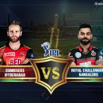 Hyderabad v/s Bangalore Thursday 17 May 2018 20.00 Bengaluru