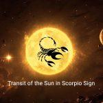 Transit of the Sun in Scorpio Sign