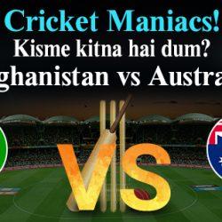 Afghanistan v Australia