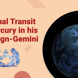 Unusual Transit of Mercury in his own Sign Gemini