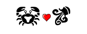 Cancer Love Compatibility with Aquarius