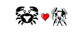 Cancer Love Compatibility with Gemini