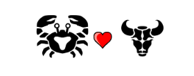 Cancer Love Compatibility with Taurus