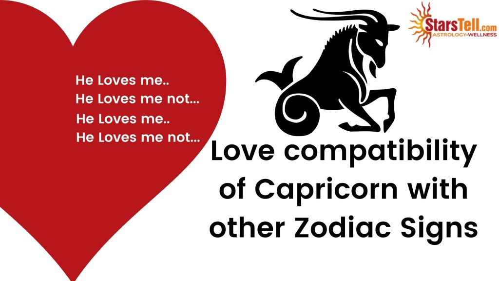 Capricorn Love Compatibility with other Zodiac signs