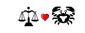 Libra Love Compatibility with Cancer