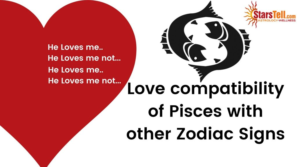 Pisces Love Compatibility with other Zodiac signs