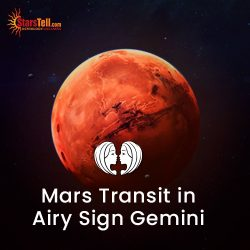 #Mars Transit in Airy Sign Gemini