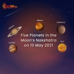 #Five Planets in the Moon Nakshatra on 13 May 2021