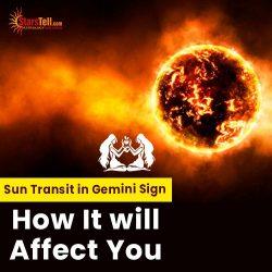 #Sun Transit in Gemini sign How It will Affect You