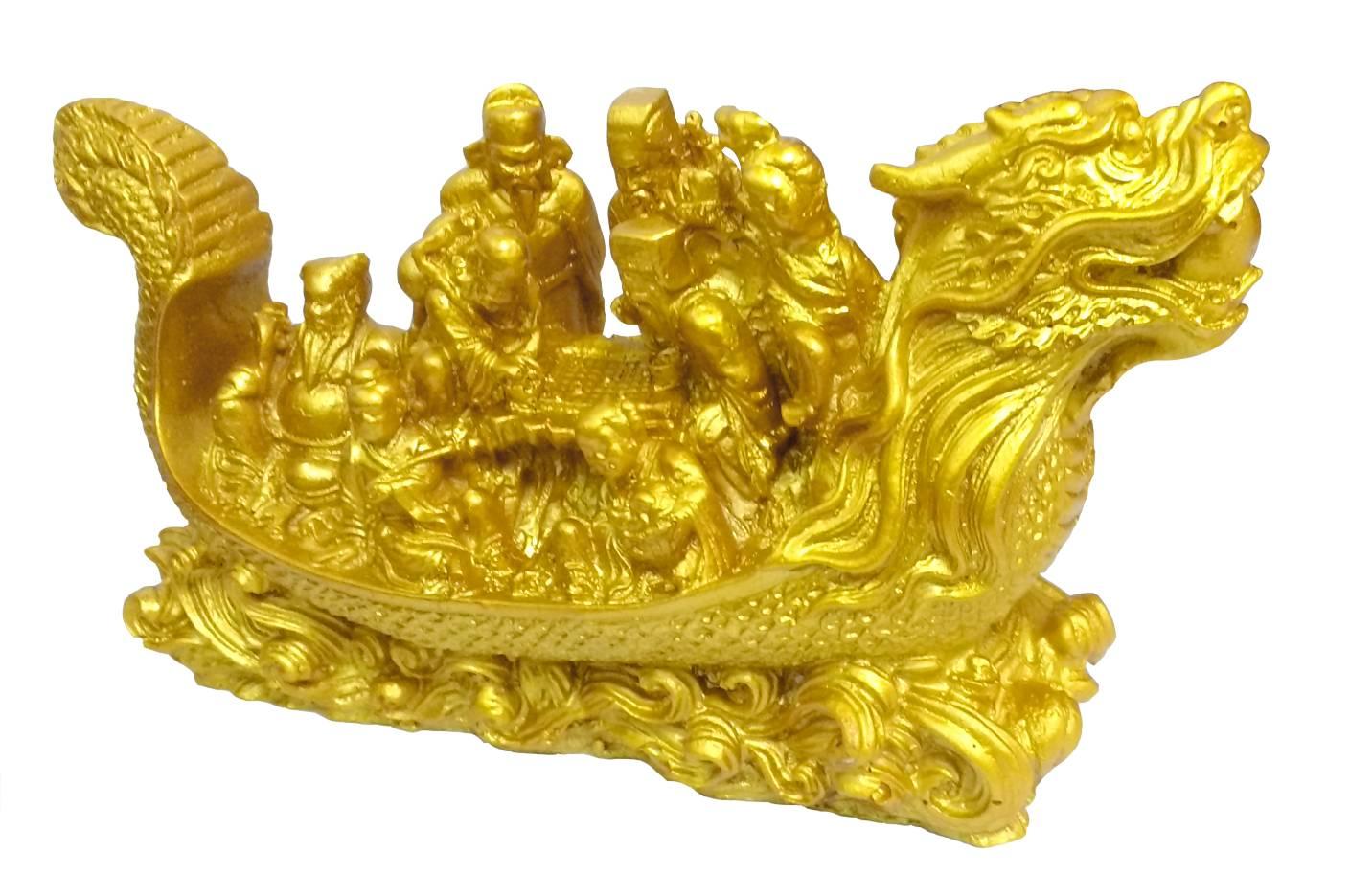 Dragon Wealth Ship, wealth Ship, Feng shui, Fengshui, Starstell Vastu Feng Shui Dragon Wealth Ship Polyresin Showpiece for Trade & Business Benefits