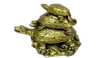 3 Tier Tortoise, Three Tier Tortoise, Vastu, Feng Shui, Decorative, Showpiece, Starstell Vastu Feng Shui Three Tier Tortoise (Polyresin) - 11.5 cm